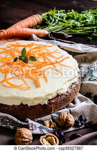 Carrot cake with mascarpone - csp39327987
