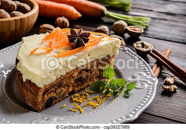 Carrot cake with mascarpone - csp39327989