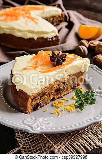 Carrot cake with mascarpone - csp39327998