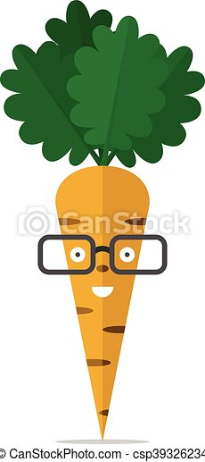 Carrot character with glasses - csp39326234