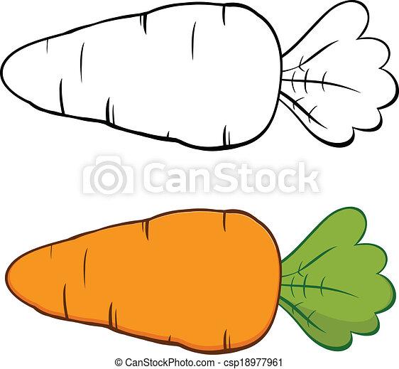 Zanahoria de dibujos animados. Coleccion de sets - csp18977961