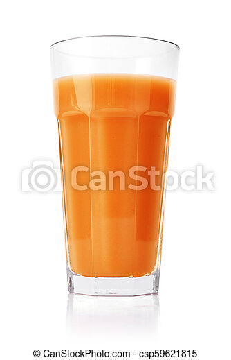 Carrot juice in glass - csp59621815