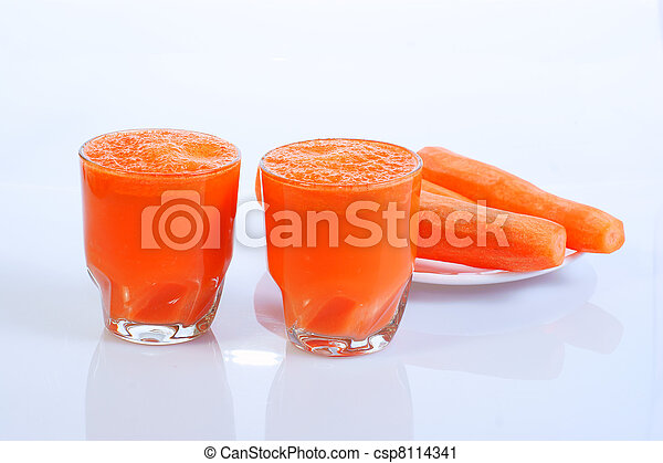 Carrot Juice in Glass - csp8114341