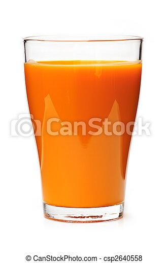Carrot juice in glass - csp2640558