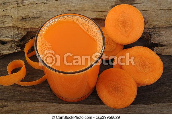 Carrot juice in glass - csp39956629