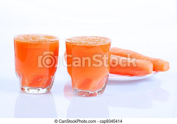 Carrot Juice in Glass - csp9345414