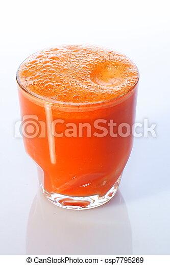 Carrot Juice in Glass - csp7795269