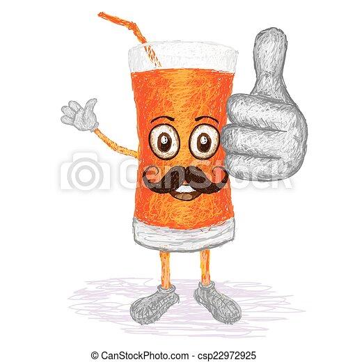 carrot juice mustache - csp22972925
