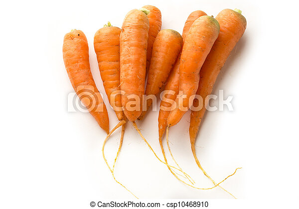 Carrots on the white background - csp10468910