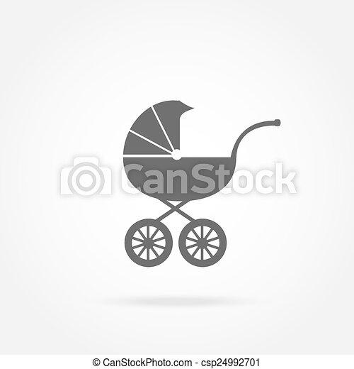 carruagem bebê, ícone - csp24992701