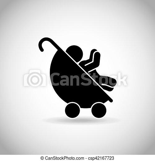 carruagem bebê - csp42167723