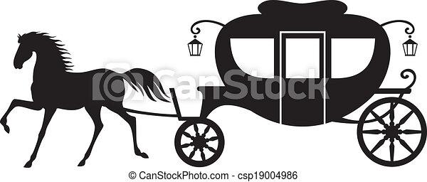 carruagem, cavalo - csp19004986