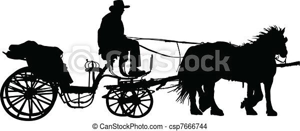 carruagem, ilustração - csp7666744