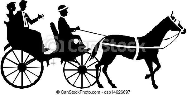 carruagem, par, cavalo - csp14626697