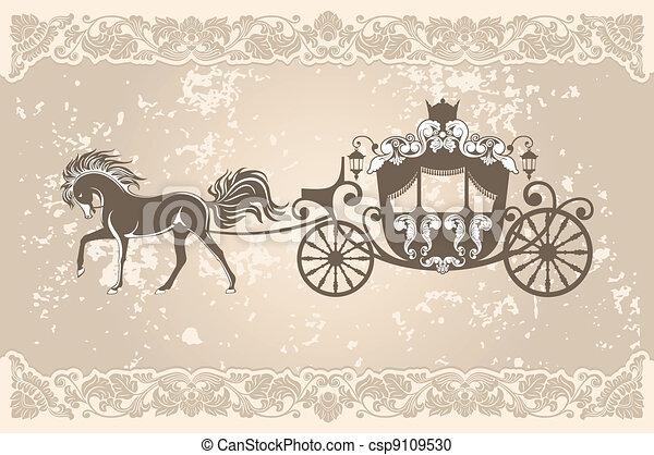 carruagem, real - csp9109530