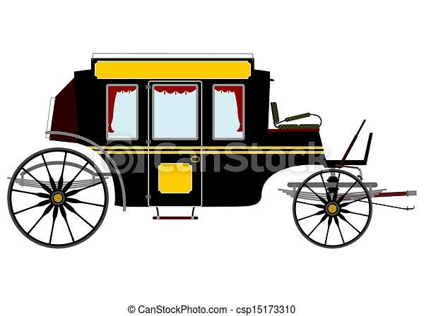 carruagem, retro - csp15173310
