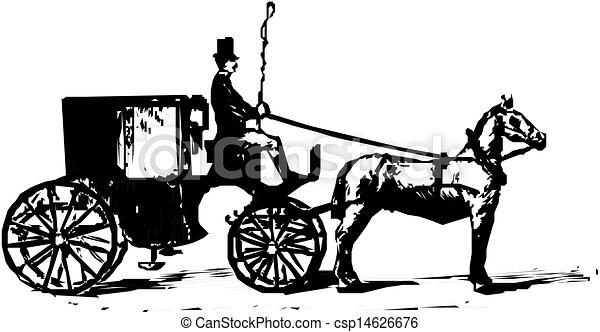 carruagem, silueta - csp14626676