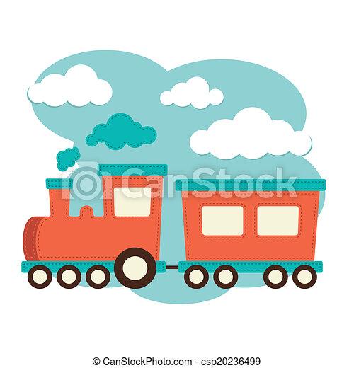 Tren y carruaje - csp20236499