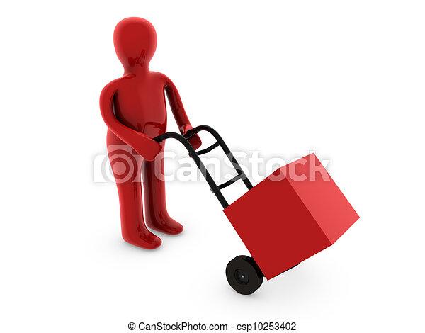 Carry a box - csp10253402