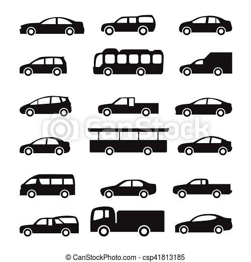 Cars icons vector set - csp41813185
