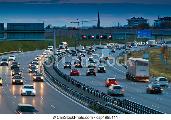 Cars in traffic on a highway - csp4995111