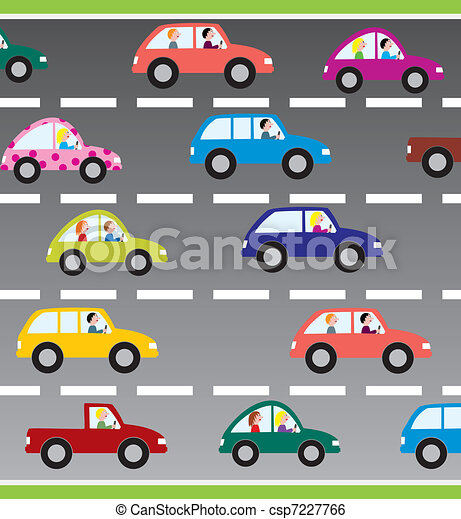 cars on the road - csp7227766