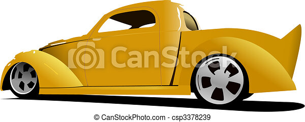 Cars on the road. Vector illustration - csp3378239