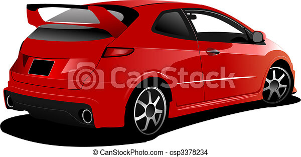 Cars on the road. Vector illustration - csp3378234