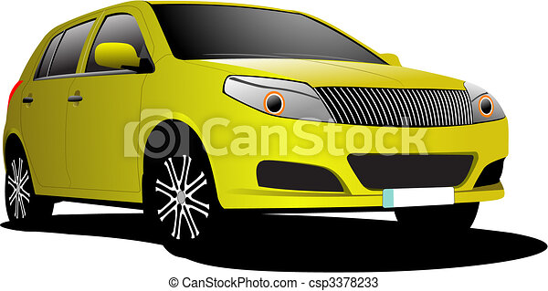 Cars on the road. Vector illustration - csp3378233