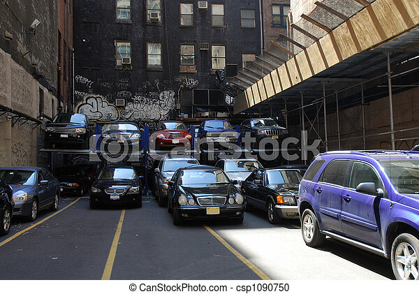 Cars parking in the city - csp1090750
