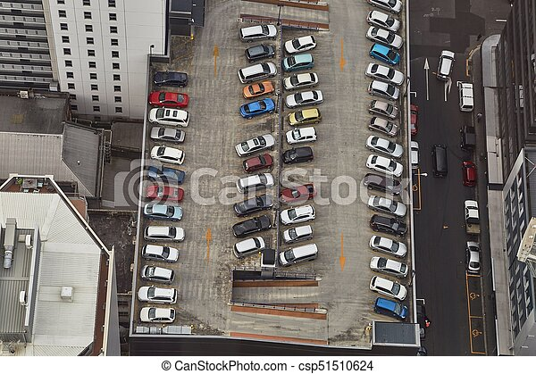 Cars parking on a rooftop - csp51510624