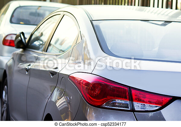 Cars parking on a street. - csp52334177