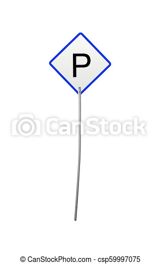 cars parking sign isolated - csp59997075