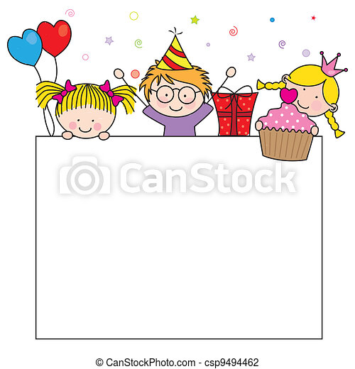 cartão aniversário, celebração - csp9494462