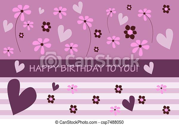 cartão aniversário - csp7488050