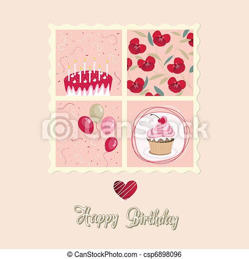 cartão aniversário - csp6898096