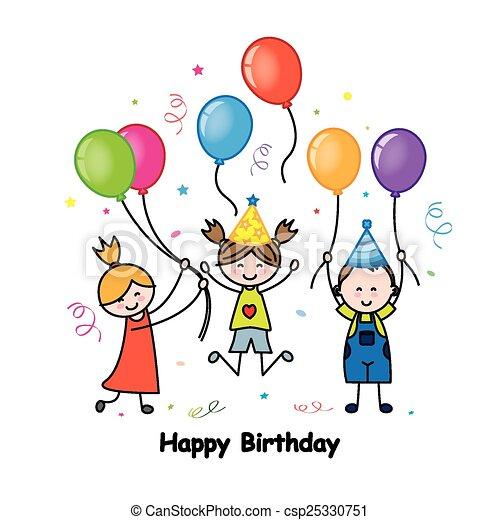 cartão aniversário - csp25330751