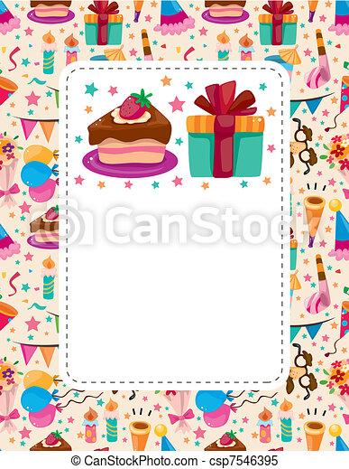cartão aniversário - csp7546395