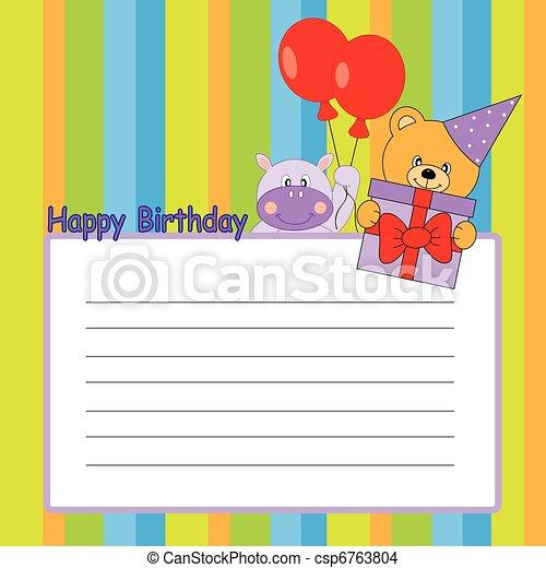 cartão aniversário - csp6763804