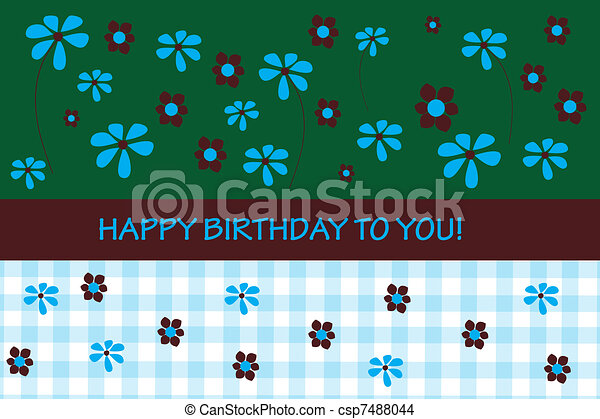 cartão aniversário - csp7488044