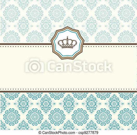 cartão, barroco - csp9277879