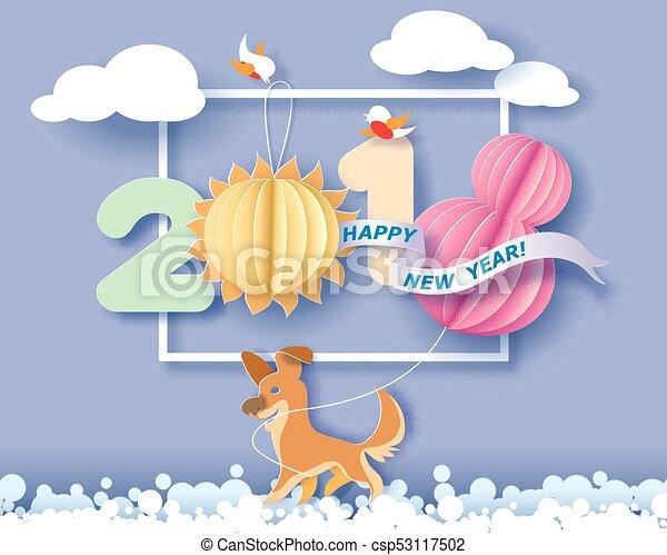 cartão, feliz, ano, novo - csp53117502