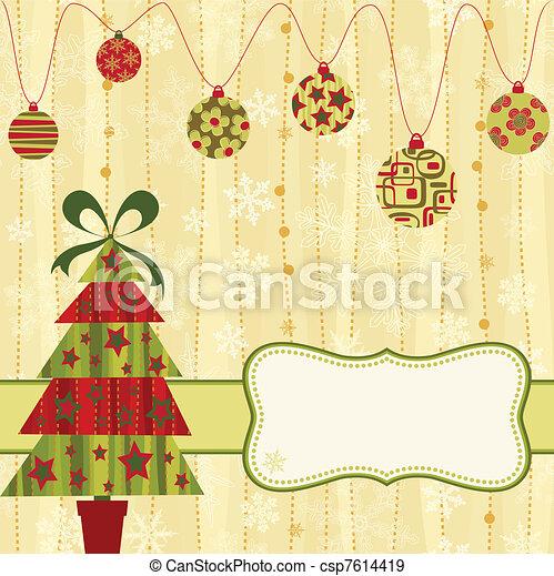 cartão natal - csp7614419