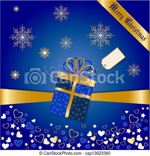 cartão natal, saudações - csp13623360