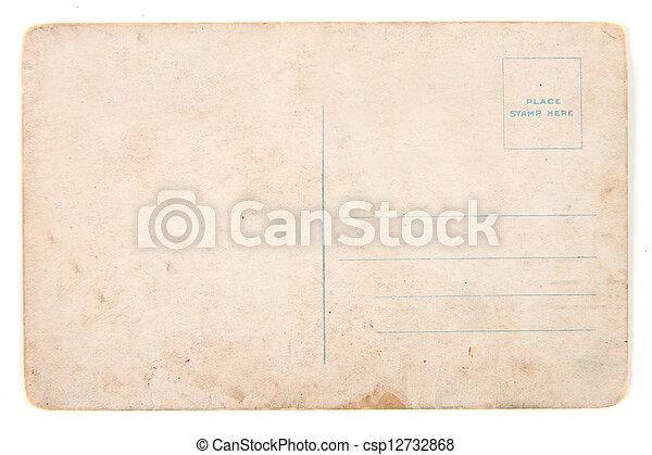 cartão postal, antigas, vazio - csp12732868