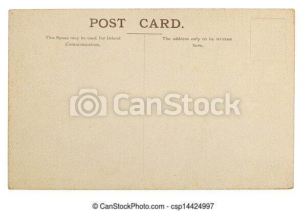cartão postal, em branco - csp14424997