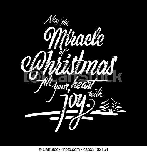 Cartão Postal Frase Natal Milagre