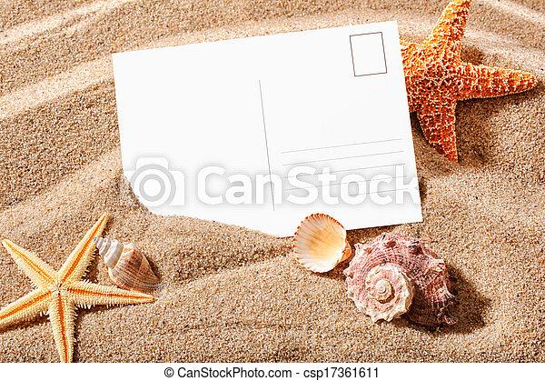cartão postal, praia - csp17361611