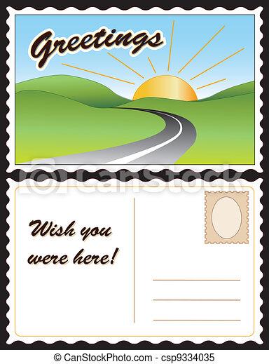 cartão postal, viagem - csp9334035