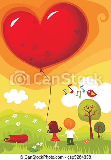 cartão, valentine - csp5284338